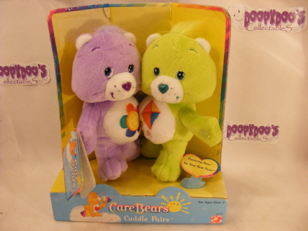 "VHTF 8"" HARMONY & DO-YOUR-BEST CARE BEARS CUDDLE PAIR"